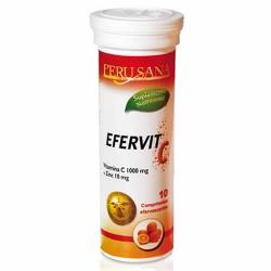 PERUSANA  - EFERVIT C + ZINC , TUBE X 10 EFFERVESCENT PILLS