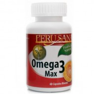 PERUSANA - OMEGA 3 MAX - FISH OIL SOFT CAPSULES 1000 MG, JAR X 60  UNITS