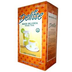 DELISSE - PERUVIAN ANDEAN MATE TEA INFUSIONS , BOX X 100 TEA BAGS