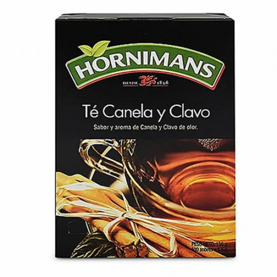 HORNIMANS - TEA,CINNAMON AND CLOVE  INFUSIONS - BOX OF 100 TEA BAGS
