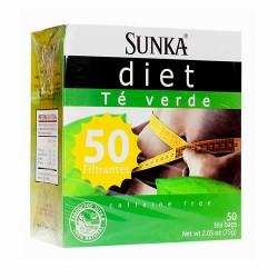 SUNKA DIET - GREEN TEA INFUSION, BOX OF 50 TEA BAGS