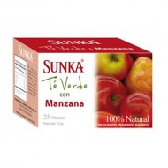 SUNKA - PERUVIAN INFUSION GREEN TEA WITH APPLE FLAVORED, BOX OF 25 UNITS