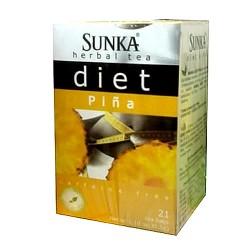 SUNKA DIET - PERUVIAN TEA INFUSIONS PINEAPPLE FLAVORED , BOX OF 21 TEA BAGS