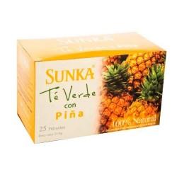 SUNKA - PERUVIAN GREEN TEA WITH PINEAPPLE FLAVORED  , BOX OF 25 TEA BAGS