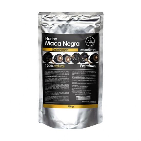 ALL NATURAL - BLACK MACA GELATINIZED POWDER , SACHET X 250 GR