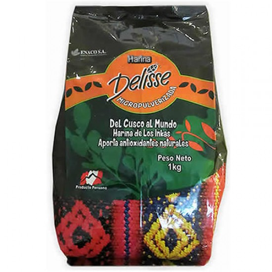 DELISSE - PERUVIAN MICROPULVERIZED TEA POWDER -  BAG X 1 KG , 100% ORGANIC