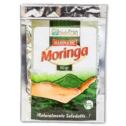 NUTRIMIX - PERUVIAN MORINGA FLOUR POWDER 100% ORGANIC , BAG X 50 GR