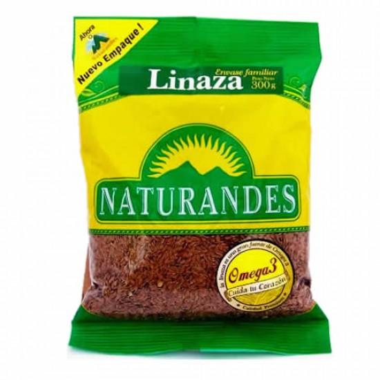 NATURANDES - NATURAL LINSEED FLAXSEED - BAG  X 300 GR