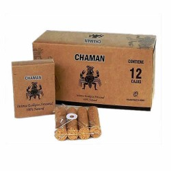 CHAMAN-  ECOLOGIC INCENSE HANDMADE PALO SANTO HOLY WOOD , PERU - PACK X 12 BOXES
