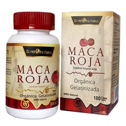 SUPERNATURAL-  INCA PERUVIAN  RED MACA X 100 CAPSULES 500 MG