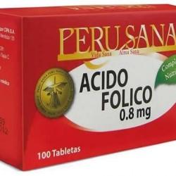 PERUSANA -  FOLIC ACID TABLETS 0.8 MG , JAR X 100 UNITS