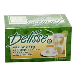 DELISSE - MATE OF ANDEAN  TEA WITH CAT'S CLAW , BOX OF 25 TEA BAGS