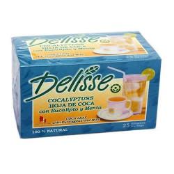DELISSE EUCALYPTUSS - PERUVIAN ANDEAN TEA WITH EUCALYPTUS AND MINT, BOX OF 25 TEA BAGS