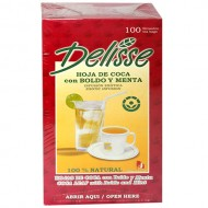 DELISSE - ANDEAN LEAF TEA WITH BOLDO AND MINT, BOX OF 100 TEA BAGS
