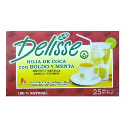 DELISSE - ANDEAN TEA WITH BOLDO AND MINT, BOX OF 25 TEA BAGS