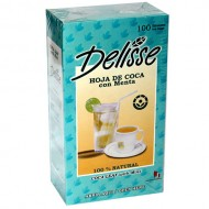DELISSE - PERUVIAN ANDEAN TEA WITH MINT, BOX OF 100 TEA BAGS