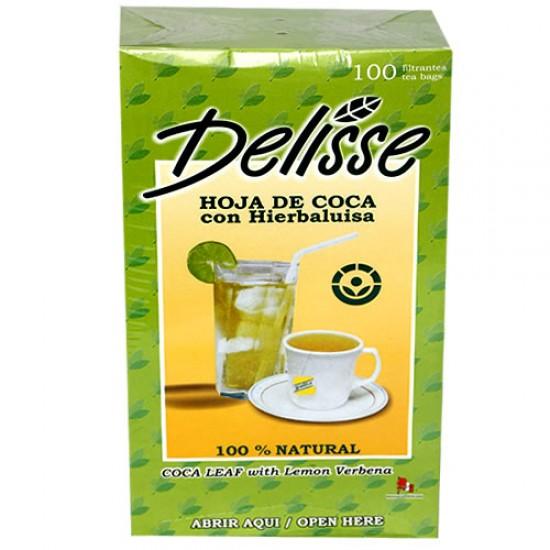 DELISSE - ANDEAN LEAF TEA WITH LEMON VERBENA , BOX OF 100 TEA BAGS