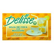 DELISSE - MATE DE ANDEAN TEA WITH CHAMOMILE , BOX OF 25 TEA BAGS
