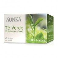 SUNKA - PERUVIAN GREEN TEA INFUSION, BOX OF 25 UNITS