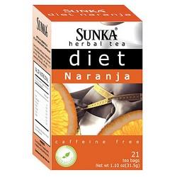 SUNKA DIET - PERUVIAN TEA INFUSION ORANGE FLAVORED, BOX OF 21 UNITS
