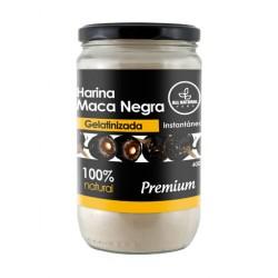 ALL NATURAL - PREMIUM  BLACK MACA GELATINIZED POWDER , BOTTLE X 400 GR