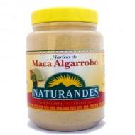 NATURANDES - PERUVIAN MACA AND CAROB  FLOUR POWDER , BOWL  X 340 GR