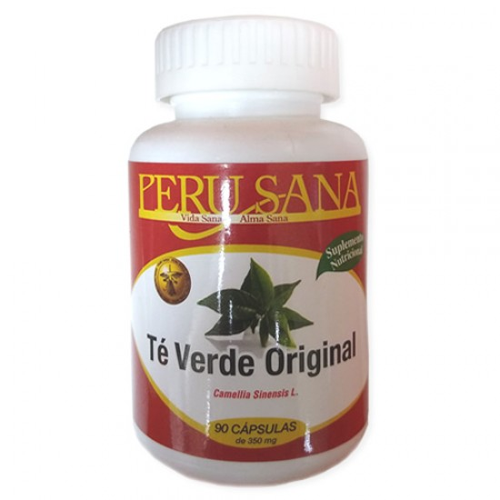 PERUSANA - GREEN TEA CAPSULES 350 Mg , JAR X 90 CAPSULES