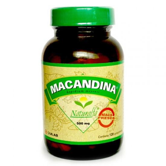 MACANDINA - INCA PERUVIAN MACA 100% NATURAL - JAR X 120 TABLETS 500 MG